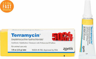Terramycin Antibiotic Ophthalmic Ointment for Dogs Cats Medication FREE Shipping