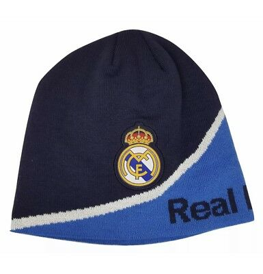 359bd93519b Real Madrid Fc Beanie Soccer New Black Official Skull Cap Hat Winter  Authentic