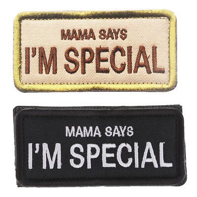 2pcs Patch Polyester 'Mama Says I Am Special' Crochet Applique Attache