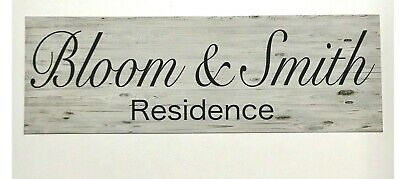 Your Family Name Residence Home House Custom Sign Wall Plaque or Hanging Vintage