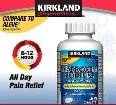 Kirkland Signature™ Naproxen Sodium 220 mg, 400 Caplets EXP 04/2020