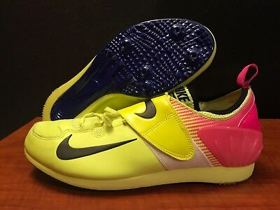 meet ea288 d0105 Nike Zoom PV II Pole Vault Spikes Shoes Track Field Men s 11.5 Volt Pink New