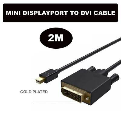 New 2M Mini Display Port DP Male to DVI-D (24+1) Male Adapter Cable Cord 1080p
