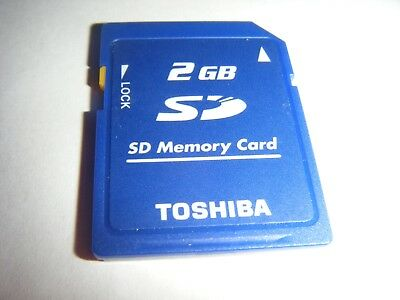 Toshiba 2GB SD Cards Memory For Cameras Wii 3DS Ds Computers & More Lot SD CARD