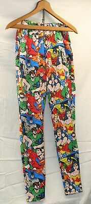 52b60907726a5d Super hero mix Leggings Comic Book Pattern DC Retro Vintage Plus size 0/16