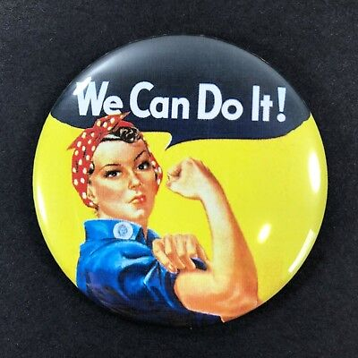 "Rosie the Riveter 2.25"" Refrigerator Magnet World War 2 Cultural Icon"