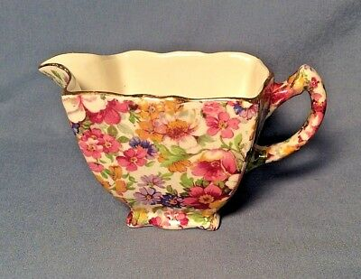 James Kent England Fenton DU BARRY Flower Square Shape Creamer Cream Pitcher 70