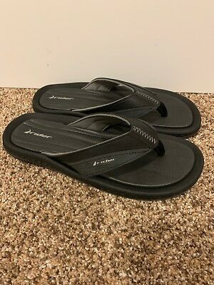 a85051d2b40d NEW!! MEN S BLACK RIDER GRENDENE flip flop thong sandals size 8 MADE ...