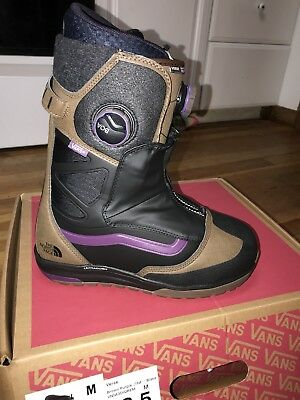 New Vans x The North Face Verse 2019 Men's Size 8.5 Snowboard Boots Double Boa