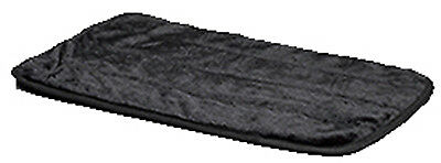 MIDWEST METAL PRODUCTS Pet Mat, Black Synthetic Fur, 24-In. 40424-BK