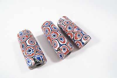 3 alte Millefiori Glasperlen AF59 Old Venetian African trade beads Murrine