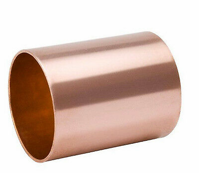 B&K LLC 2-Inch Wrot Copper Coupling With Stop W610150