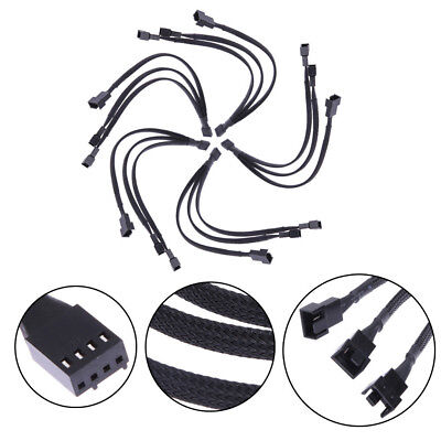 2019Fan 4pin to 3 x 4pin/3pin PWM extender cable 4pin to 3 Ways Y Splitter Cable