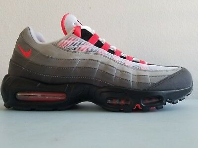 pretty nice 29d09 1bfd1 Nike Air Max 95 OG Solar Red Mens Retro Nike AT2865 100 Sz 13 New