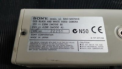 Sony Ccd-Iris Ssc-M370Ce Black And White Video Camera  (R5S7.4)