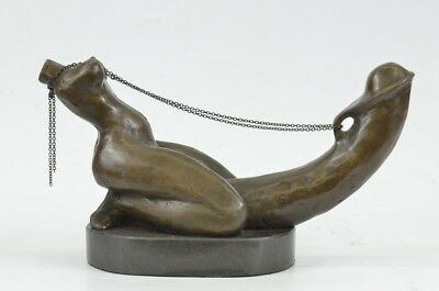 Hand European Made Made by Spanish Artist Cezaro Bronze Sculpture Figure Deco
