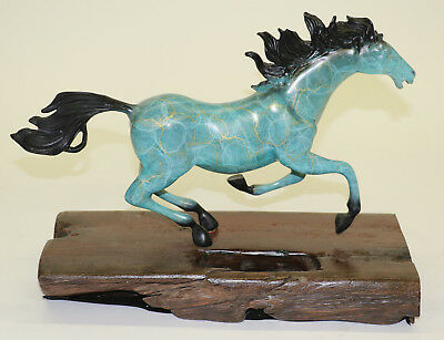 French Bronze Horse Horse Pony Statue Signed Williams Art Deco Hot Cast Figure