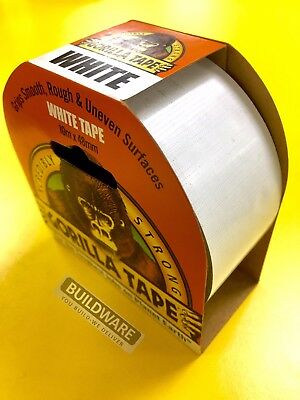 GORILLA White Tape 10m x 48mm Stronger, Thicker & Tougher