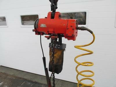 ARO? Ingersoll Rand? Dayton? Pneumatic Air Chain Hoist 11' Lift 1/4 Ton