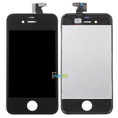 Touch Screen Lcd Display Retina Vetro Schermo + Frame Per Apple Iphone 4S Nero