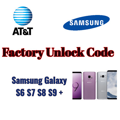 Unlock Network Service PIN Code For at&t Samsung Galaxy S6 S7 S8 S9 +