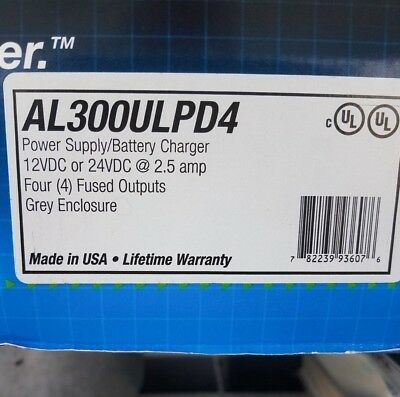 Altronix AL300ULPD4 Power supply/battery charger 12VDC or 24VDC @ 2.5 amp
