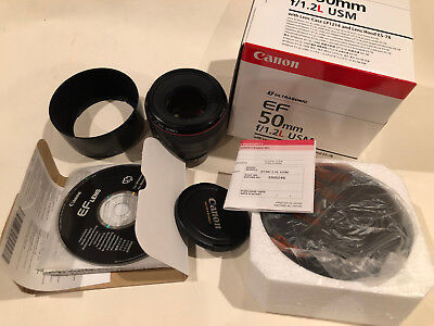 MINT Canon EF 50mm f/1.2 EF L USM Lens 50 1.2 50/1.2 Everything Barely Used
