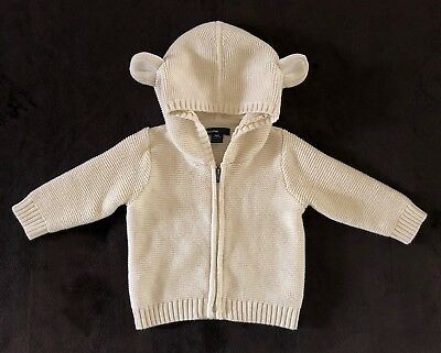 697536c9e BABY GAP BOYS Girls 6-12 Months Ivory Sweater ROMPER 1-piece With ...