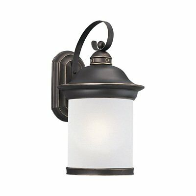 Sea Gull Lighting Hermitage 1-Light Outdoor Wall Sconce Antique Bronze