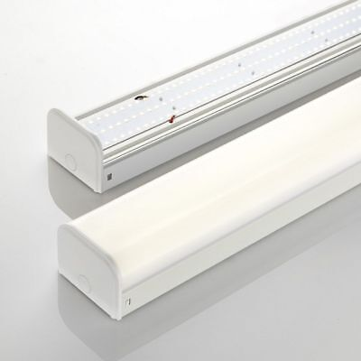 LED BATTEN SLIMLINE TUBE LIGHT WALL OR CEILING MOUNT 4ft 5ft 6ft BRIGHT LUMENS
