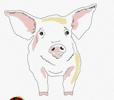 Embroidery pattern Pig - Symbol of the New Year. Small and large Simple design