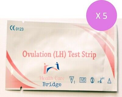 5 X Ovulation Test Strips Fertility Home Urine Tests ---Fast Delivery!!!