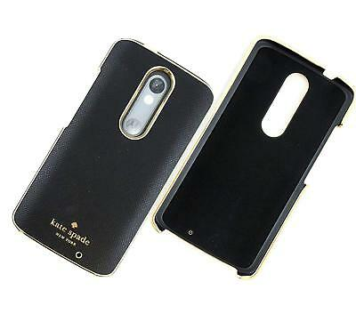 Kate Spade NY Wrap Case for Motorola DROID Turbo 2 Saffiano Leather Black & Gold