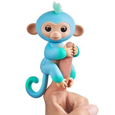 Fingerlings Baby Monkey - Two Tone - Charlie (Blue and Green) NEW