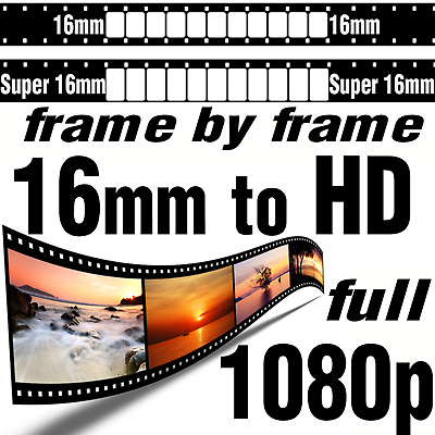 Super 16mm Movie Film to HD Blu-ray Frame by Frame Scan High Definition Transfer
