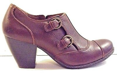 d0de516e40eccc VTG BORN INES Ankle Boots 9 Brown Victorian Shoes Granny Steampunk Retro  Heel