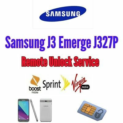REMOTE SPRINT BOOST VIRGIN MOBILE UNLOCK Samsung J3 J320P FAST