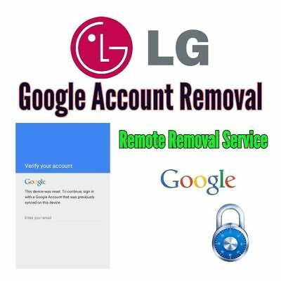 Google Account FRP Unlock Service For LG Phones / remote removal service
