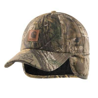 NEW CARHARTT 101477 Men s Size L   XL Hat Camo Ear Flap Cap Realtree ... ff553368f684