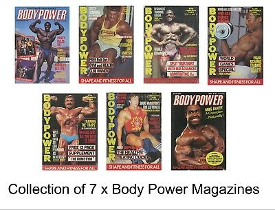 Collection of 7 x Body Power UK Bodybuilding Magazine Lee Haney Tony Pearson