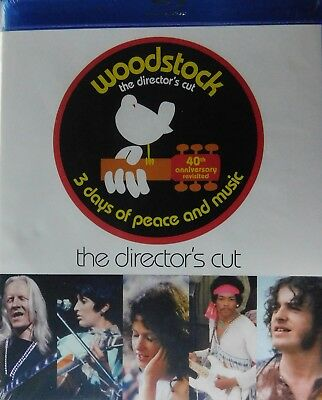 WOODSTOCK (1970) 3-Disc Blu-ray The Director's Cut 40th Anniversary Revisted