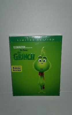 Dr. Seuss' The Grinch (Bluray DVD Digital 2018) Limited Edition Brand New Sealed