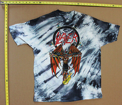 4bad996ad Original vintage 1988 Slayer Tie-dye T-Shirt Hanes XL South of Heaven Dead