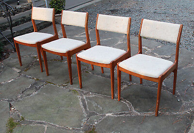 Outstanding Mid Century Modern Danish Teak Dining Chairs Set Of 4 Bralicious Painted Fabric Chair Ideas Braliciousco