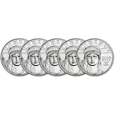 2019 American Platinum Eagle 1 oz $100 - BU - Five 5 Coins