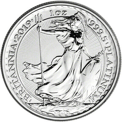 2019 Great Britain Platinum Britannia £100 - 1 oz - BU