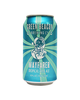 Green Beacon Brewing Co Wayfarer Tropical Pale Ale Cans 375mL Beer case of 24