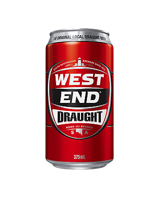 West End Draught Cans 375mL Beer case of 24