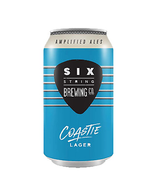 Six String Brewing Co. Coastie Pale Lager Cans 375mL Beer case of 24