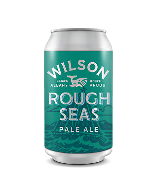 Wilson Brewing Rough Seas Pale Ale Cans 375mL Beer case of 24